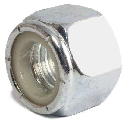 "Picture of Nut 10/32"" Nylon Insert Steel Zinc - 500pcs"